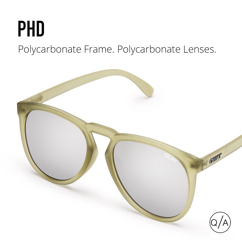 c843d4e8bc Amazon.com  Quay Australia PHD Men s Sunglasses Oversized Aviator Sunnies -  Olive Silver  Sports   Outdoors