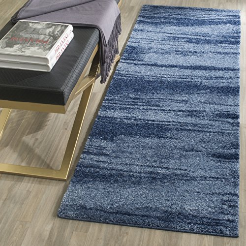 Safavieh Retro Collection RET2693-6065 Modern Abstract Light Blue and Blue Runner (2'3