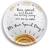 DEMDACO You're Special Melamine Giving Plate, Multicolor