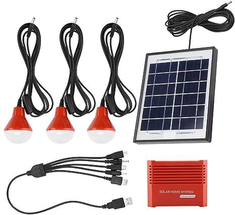TOPINCN Kit De Generador Solar Portátil Fuente De Alimentación De Emergencia Paneles Solares 4W Batería Recargable USB 3.7 V Energía Solar Led ...