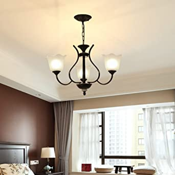 Lighting Groups Industrial Retro Living Room Chandeliers American Creative  Bedroom Lamp Wrought Iron Dining Room Chandelier