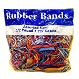 Office Products : Alliance Rubber Bands Assorted Dimensions 227G/Approx. 400 Rubber Bands, Multi Color, 1/2 lb