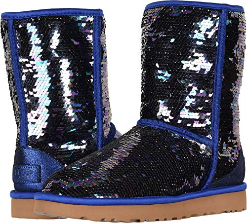 UGG Women's W Classic Short Sequin Fashion Boot Navy 8 M US