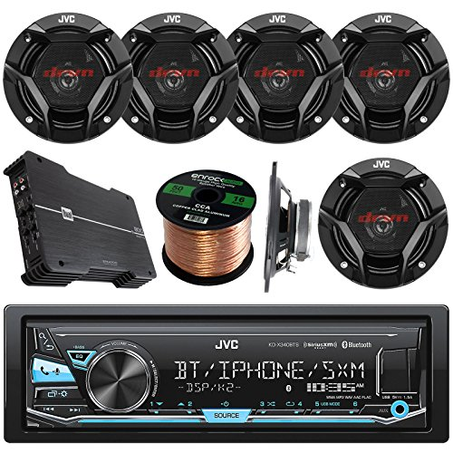 JVC KDX330BTS AM/FM USB AUX Car Stereo ReceiverBundle Combo With 6x JVC CS-DR6930 6x9
