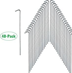 Gray Bunny Galvanized Steel Tent Stakes, Multiple Pack Sizes, Solid Steel Tent Pegs, Rust Resistant Metal Hook, Garden Stake for Plants and Landscaping, Perfect for Anchoring Camping Tents