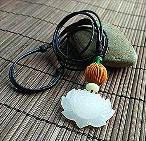 Lotus Flower Jade Pendant Necklace vintage pendant handmade A++ natural handmade jade pendant