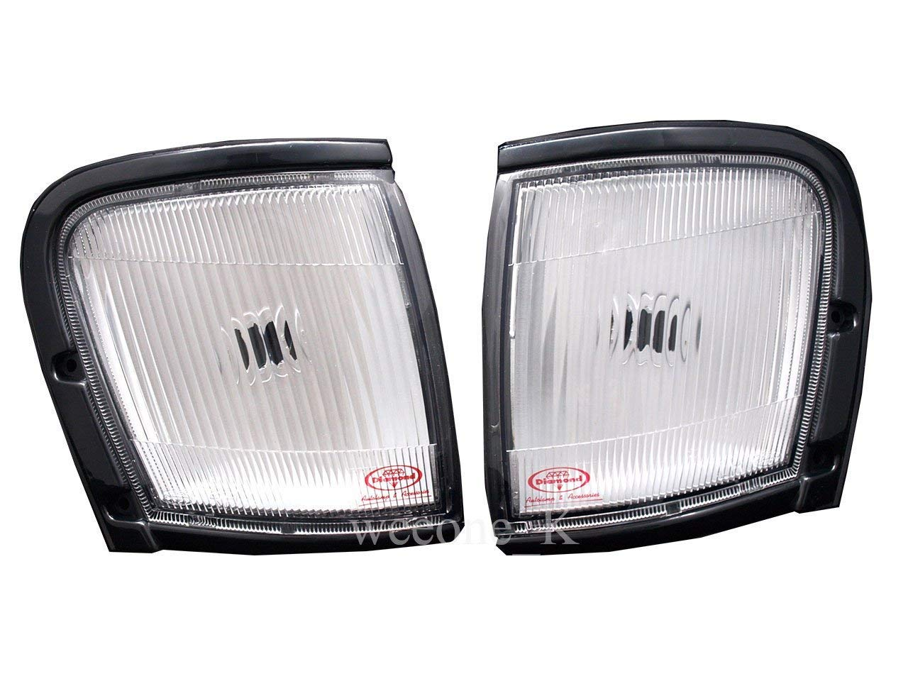 K1AutoParts Front Corner Side Light Lamp White Color For Isuzu TFR//Holden Rodeo Pickup//Amigo 1998 1999 2000 2001