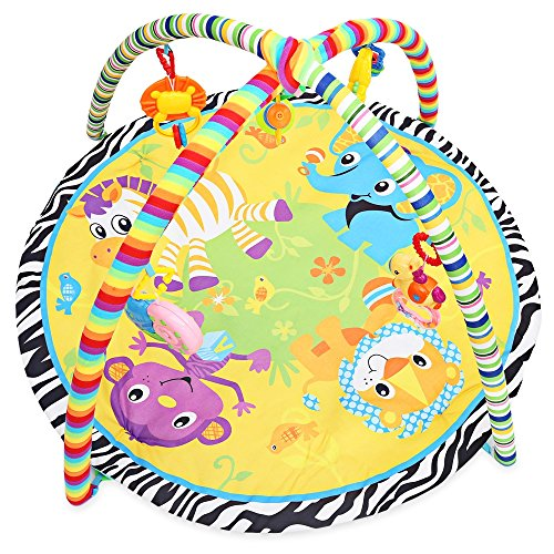 Baby Soft Crawling Mat,Animal Cartoon Play Mat,Play Gym Nest Activity Mat Newborn Sound Toy Multi-Functional Puzzle Early Education Gift Exercise Children's Body Coordination Ability by Alapaste