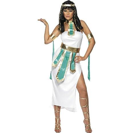NET TOYS Costume regina Cleopatra travestimento femminile antico Egitto  abito donna egiziana - S 40  90fae2bb575e
