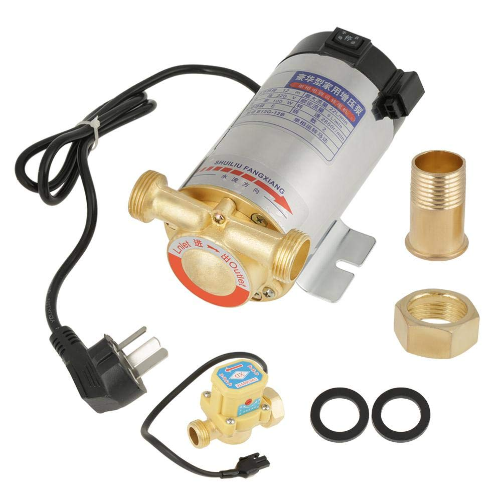 220V 100W Water Boost Pump Automatic Household Stainless Steel for Tap Water Heater Solar Water Purifier Pipeline