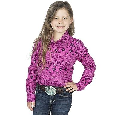 3c047639 Amazon.com: Cruel Girl Girls' Aztec Print Snap Long Sleeve Western Shirt:  Clothing