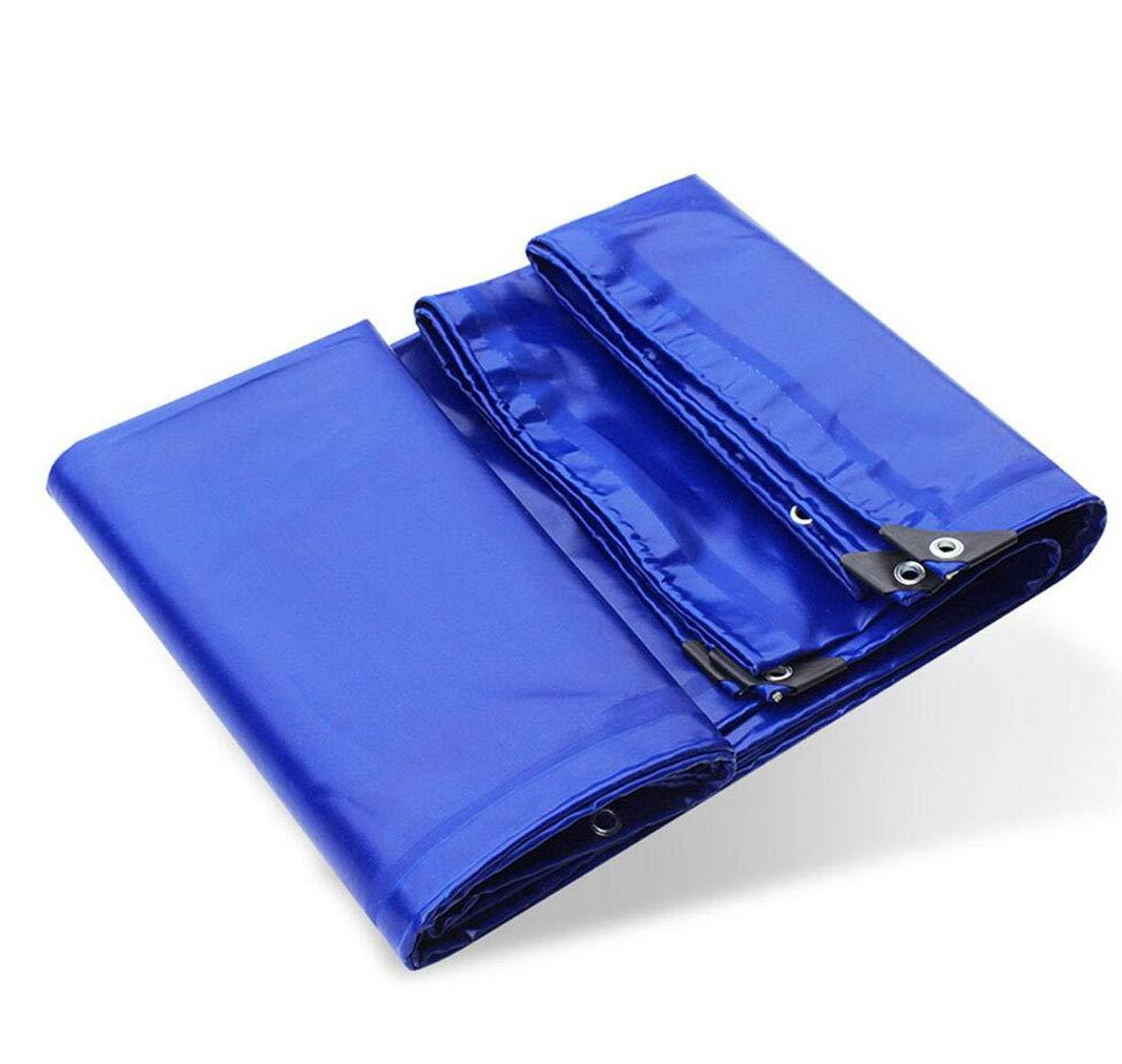 MYYDD Dickes Regenschutztuch Rain Tuch Outdoor Camping Zelt Schwimmbad Tuch PVC Glue Decktuch-Sonnenschutz Windproof Car Tarpaulin Blaue Dicke 0,6mm Mit Fixing Eyelet, mehrere Größen,6x8m