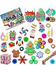 iSayhong Fidget Pack Adventskalender 2021, Kerst Countdown Kalender Fidget Toys Set Pack, Fidget Box Surprise Gifts voor Party Favor, Adventskalender 07, Eén maat