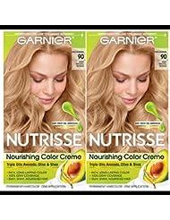 Garnier Hair Color Nutrisse Nourishing Creme, 90 Light...