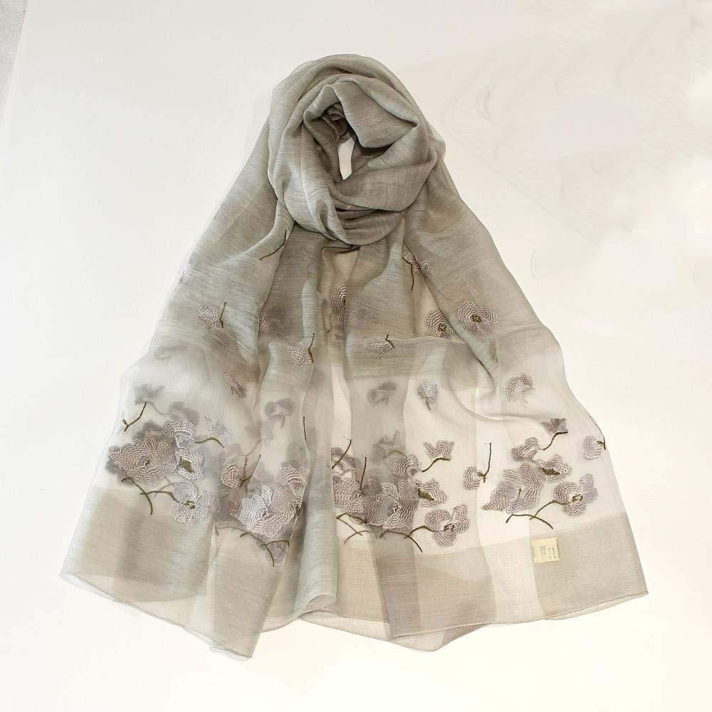 Weiwei Ladies Silk Shawl Beach Towel Long Sunscreen Towel Silk Scarf Scarves Lace Shawl 80cm200cm