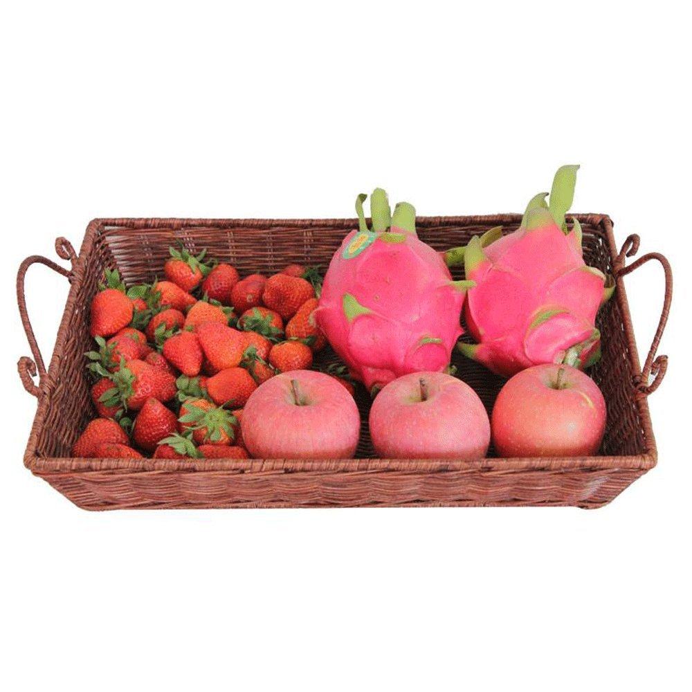 TXXM manufacture® Dustpan Tray Ländliche Früchte Korb Bambus Weben Obst Töpfe Bambus Korb Lagerung Korb Brot Korb