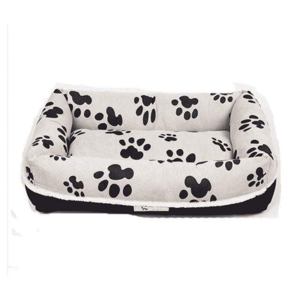 Large Removable And Washable Kennel Cat Litter Moisture-proof Wear-resistant Non-stick Hair Size Dog Mat Mat Bed House Pet Supplies WHLONG (Size   LARGE)