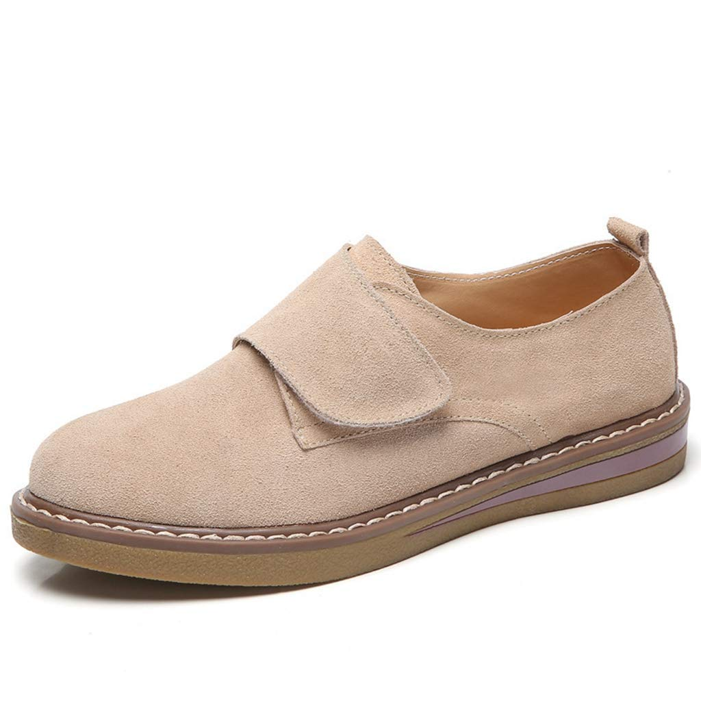 Beige Elsa Wilcox Women Classic Handsewn Suede Leather Driving Moccasins Penny Loafers Casual Slip On Fashion Boat shoes Flat Heel Loafers