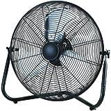 20 High Velocity Adjustable tilt Fan, Black, made of high quality metal