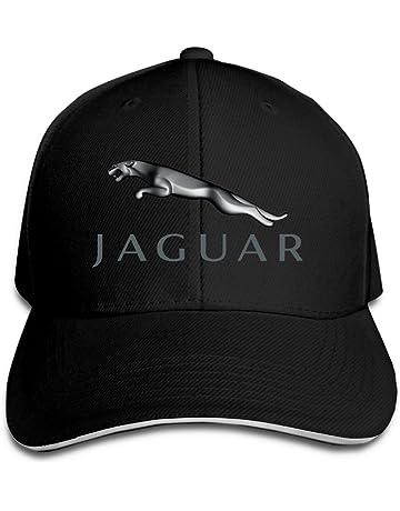 d63de05d Hittings Jaguar Logo Adjustable Snapback Peaked Cap Baseball Hats Black