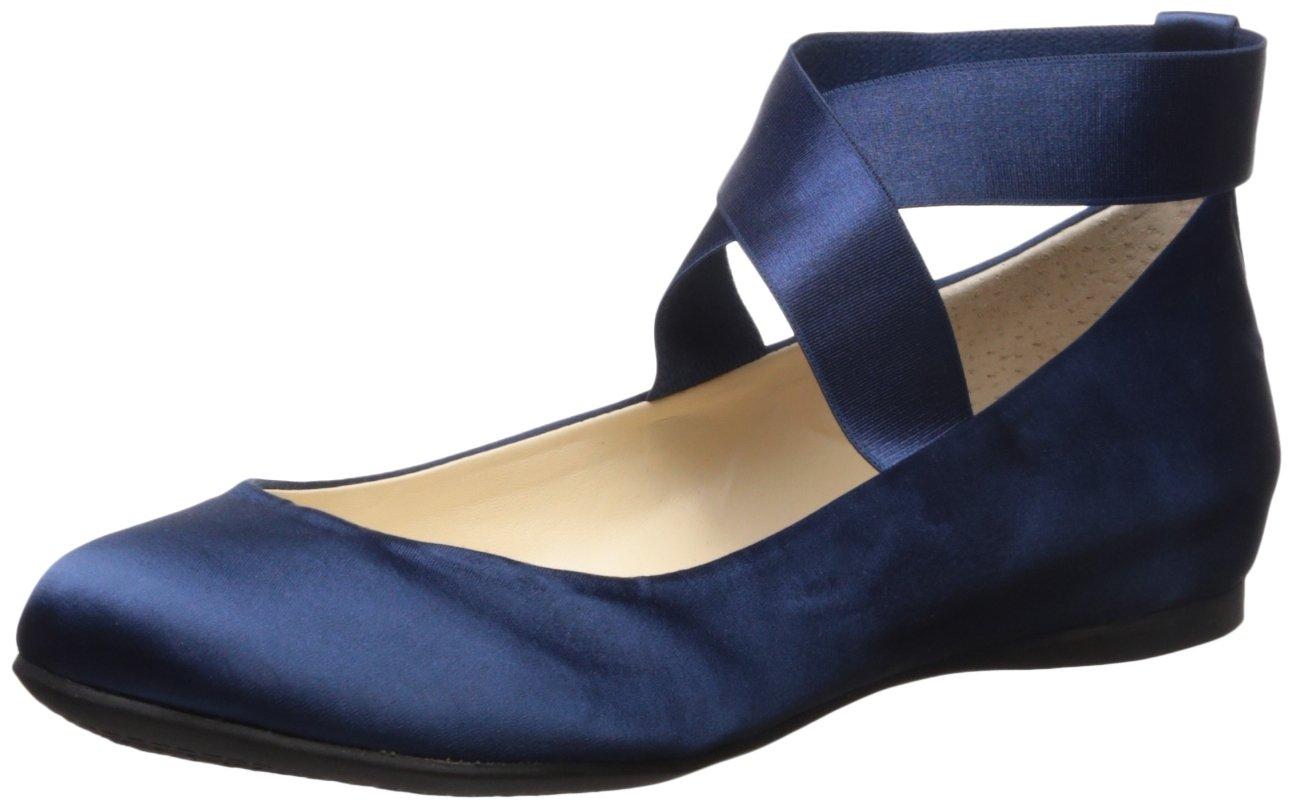 Jessica Simpson Women's Mandayss Ballet Flat B06X155D2B 5.5 B(M) US|Navy Satin
