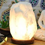 Salt Lamp White for Seasonal Affective Disorder (SAD) by Yellow Tree Company Authentic Himalayan White Salt Lamp.