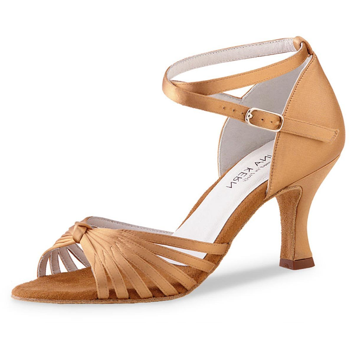 Anna Kern - Damen Tanzschuhe 526-60 - Satin Bronze - 6 cm B071YBMJNL Tanzschuhe Neu