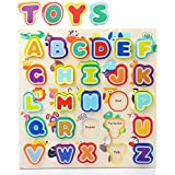 Toddler Alphabet Puzzle Board Wooden ABC Puzzles Educational Toys Baby Learning Letter Blocks