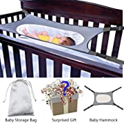 Newborn Baby Hammock for Crib Wombs Bassinet Buckle Strong Oxford Material with Double-Layer Breathable Supportive Mesh Adjustable Strap Absolutely Safe Nursery Bed Travel