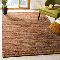 Safavieh Organica Collection ORG212A Hand-Knotted Red and Multi Wool Area Rug (9 x 12)