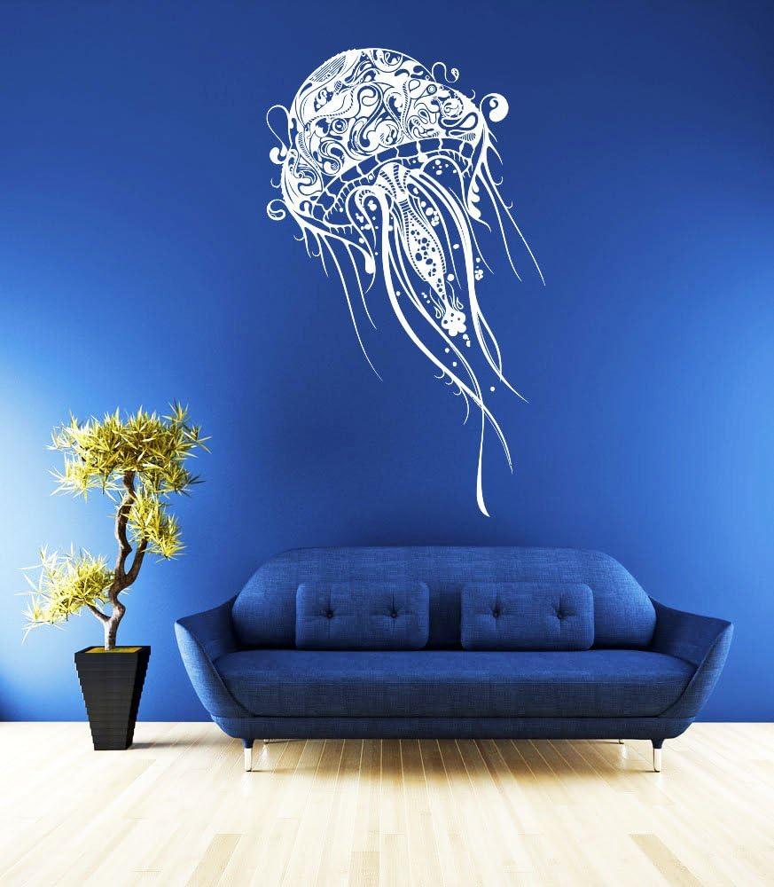 Wall Decal Vinyl Sticker Decals Art Decor Design Jellyfish Animals Water Deep Sea World Ocean Bedroom Living Room Bathroom ( R16)