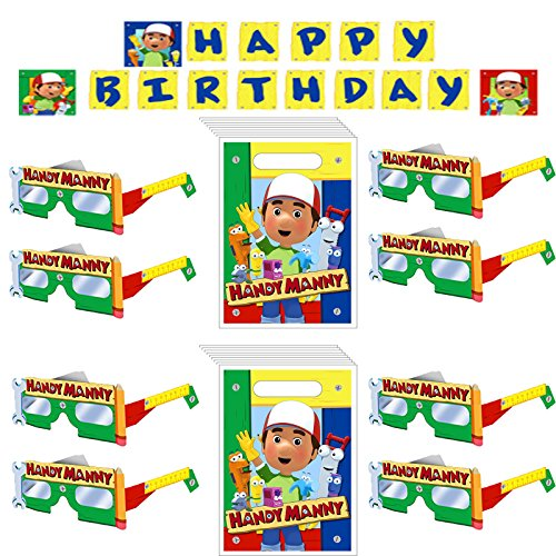 Handy Manny Banner, Treats Bags and Fun Frames (Handy Manny Birthday Party Supplies)