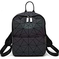 HotOne Geometric Backpack Holographic Reflective Backpacks Fashion Laptop Backpack (No.2 Large Size)