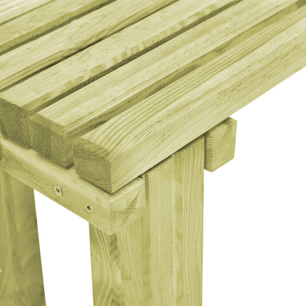 vidaXL Garden Dining Bench Retro Slatted Design Kitchen Outdoor Patio Furniture Seat Seating Accessory 130cm FSC Impregnated Pinewood