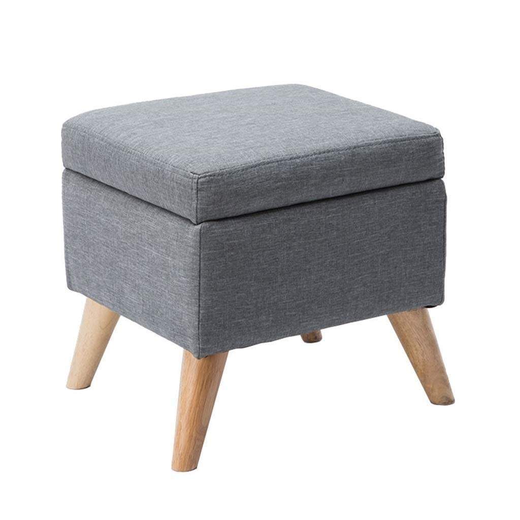 Shoe Stool, Coffee Table Multi-Functional Storage Stool, Makeup Stool, Footrest, Child Seat, PU Leather Pad, Living Room Dining Room Bedroom Children's Room Kindergarten, Bearing Gravity 120KG by CS-JZ