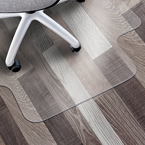 Matladin Heavy Duty 48 inches x 36 inches PVC Chair Mat for Hardwood Floor with Lip, 1/8 inches Thick Transparent Chair Mat for Hard Floor, Wood or Hard Surface Flooring Protector for Office