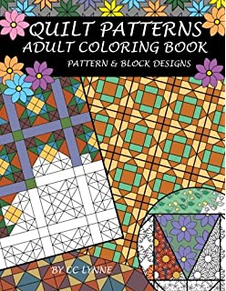 Quilt Patterns Adult Coloring Book
