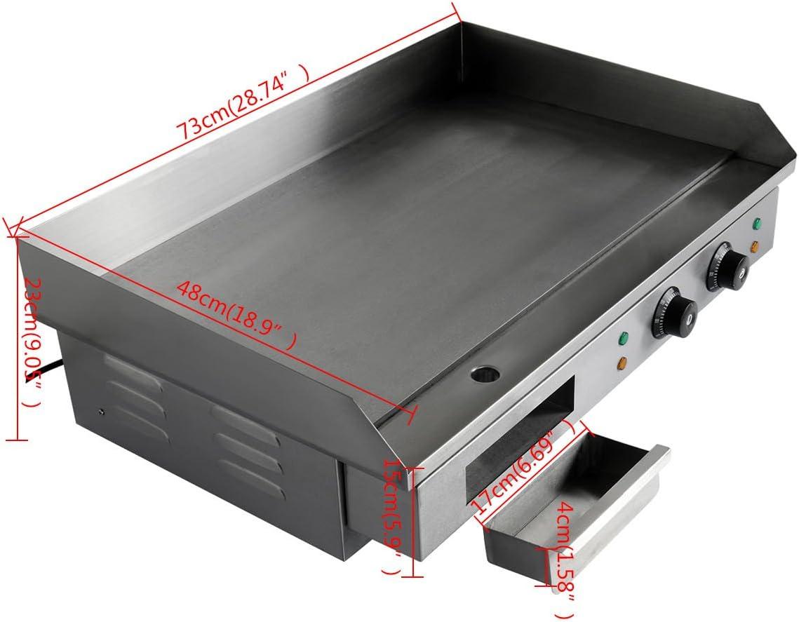 4400W TryESeller Elektrische Grillplatte Barbeque Grill Hei/ße Platte Speck Ei Wurst Fritteuse Pfannkuchen