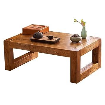 Table Table En Bois Massif Baie Vitrée Style Japonais Tatami Table