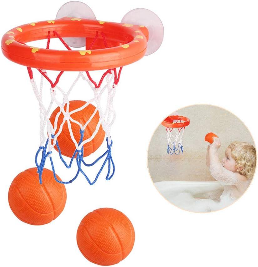 NEXTAKE Kids Basketball Hoop Bathtub Water Play Set for Baby Educational Mini Gift Foam Beach Swimming Pool Toddler Bath Toys
