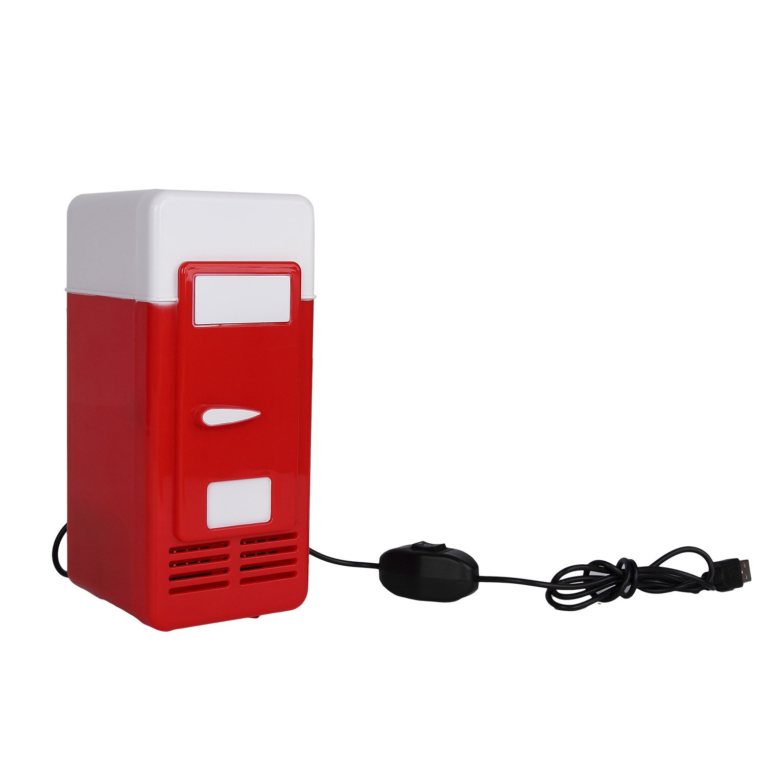 Discoball® USB Mini LED Fridge Beverage Drink Cans Cooler Warmer (Red)