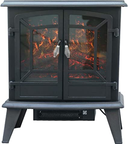 Chome European Fireplace Exit Free Standing Electric Fireplace Core Simulation Fire Moving Fireplace Decoration Cabinet American Fireplace Heater Amazon De Küche Haushalt