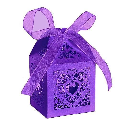 Boomprospect - Caja de caramelos con patrón de amor, tarjeta ...