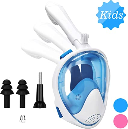 Snorkel Mask For Kids Full Face Snorkel Mask With Detachable Camera Mount Dry T