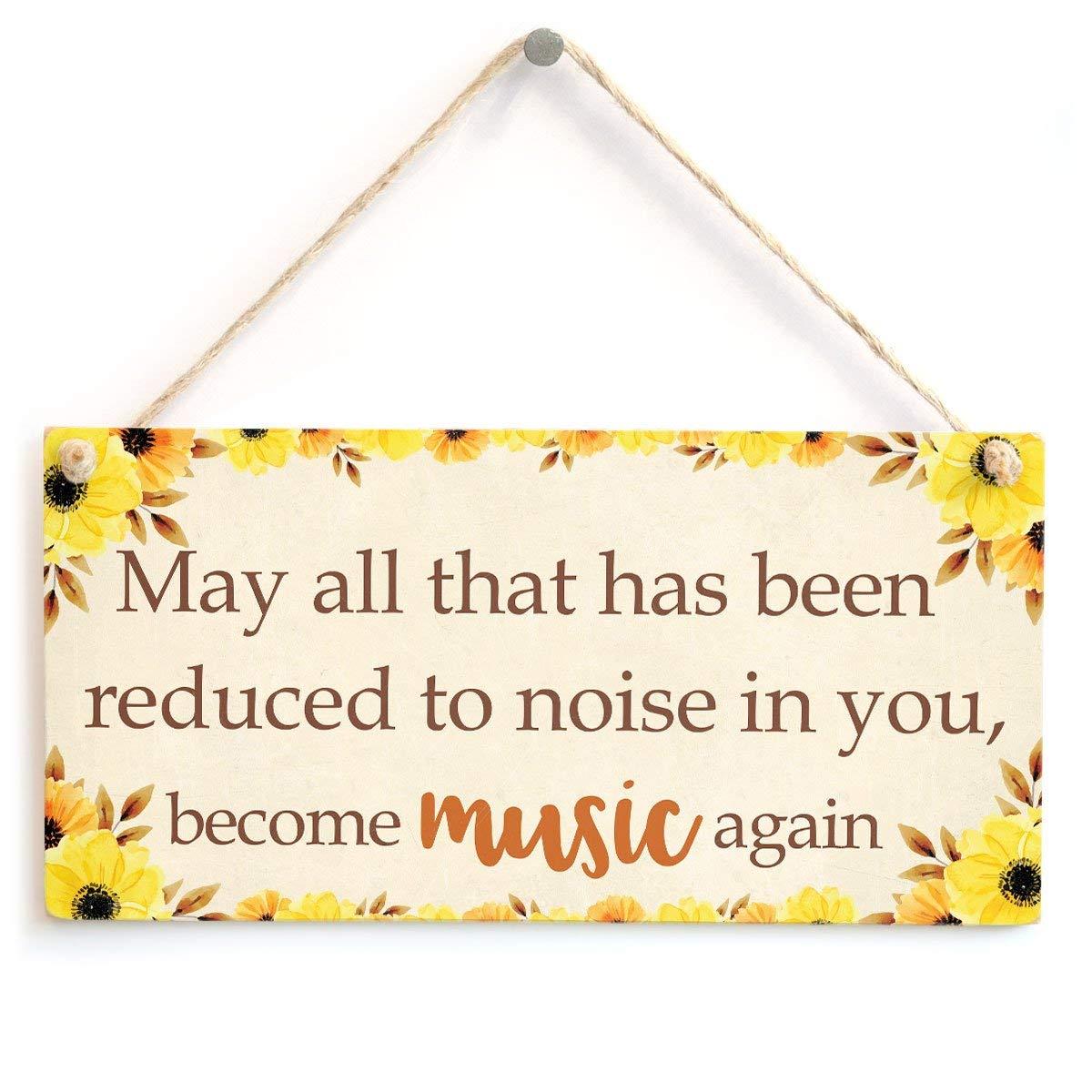 Hunnry Become Music Again Letrero de Placa de Madera ...