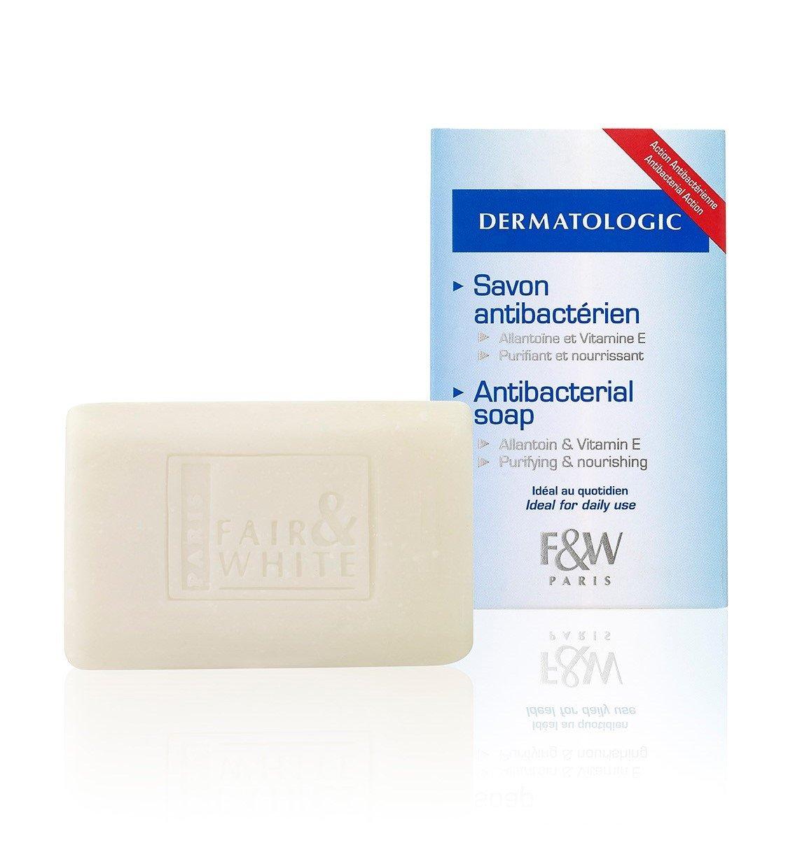 Fair & White Original Dermatologic Antibacterial Soap with Allantoin & Vitamin E - Purifying & Nourishing, 200g / 7oz
