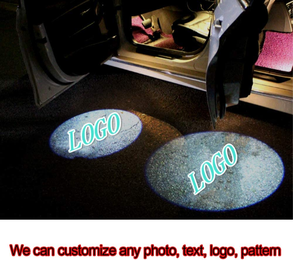 NEWL Custom Logo LED Projection Shadow Car Door Welcome Light DIY Step Light
