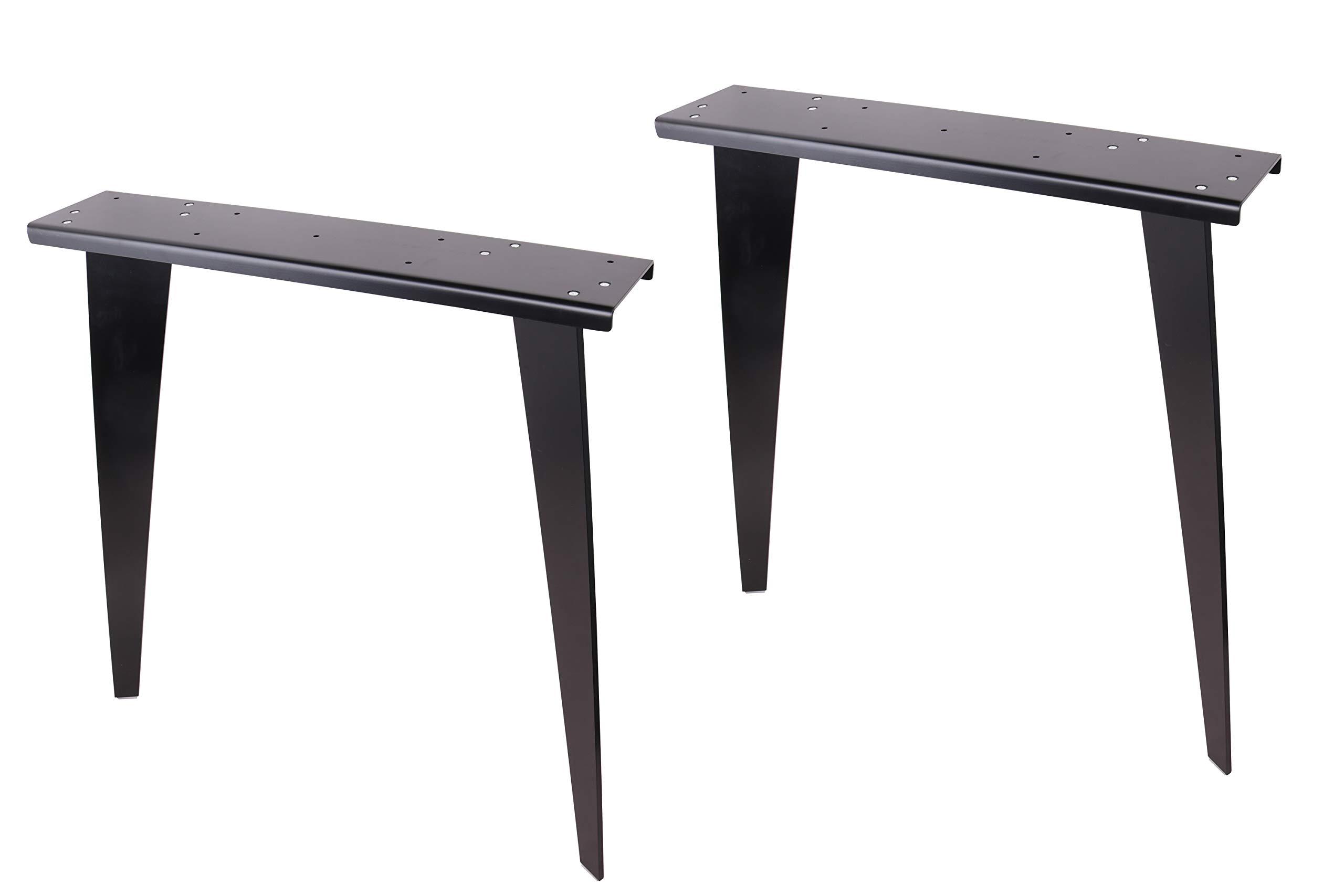 2 x 28'' Dining Table Legs, Black Solid Steel Table Legs, Office Table Legs,Computer Desk Legs,Industrial Kitchen Table Legs,Black