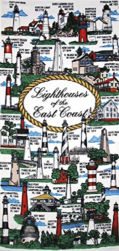 Lighthouses of the East Coast Velour 30x60 Beach Towel Bath Towel ()