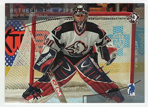 Ryan Miller (Hockey Card) 2003-04 ITG Memorabilia # 161 NM/M (Ryan Miller Game)